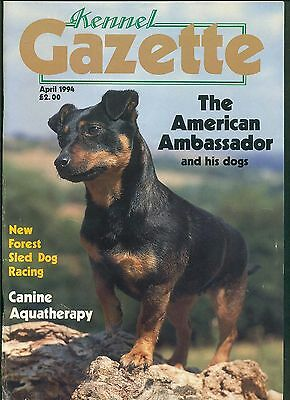 Kennel Gazette - Long Hared Dachshund Collectables - April 1994 - Sled Dog