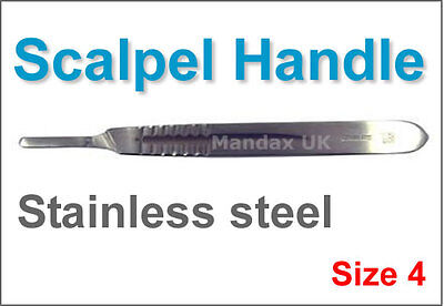 5 pc Surgical Scalpel Handle Size 4 - Sign Makers Crafts Fits 20 21 22 23 25 26