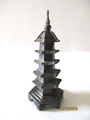 Antique Chinese Export Silver Miniature Pagoda Shaker 3 in tall 26 grams Marked