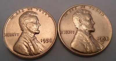1958 P & D Lincoln Wheat Cent / Penny Coin Set (2 Coins)  **FREE SHIPPING**