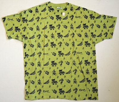 NWT Vtg 80s/90s All Over Print Hawaiian Art T Shirt XL Single Stitch USA UNWORN