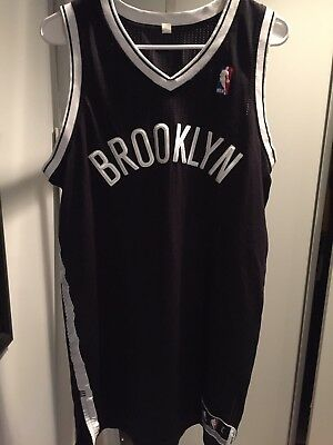 ADIDAS NBA REVOLUTION 30 BROOKLYN NETS BLACK AUTHENTIC BLANK JERSEY Large  L+2 8920b9579