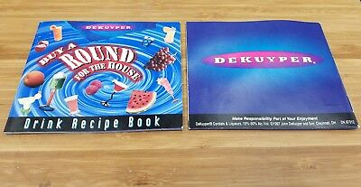 """Vintage 1997 Dekuyper """"buy A Round For The House"""" Drink Recipe Booklet"""