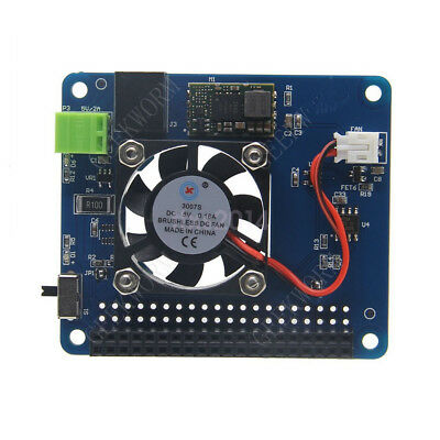 New Fan and Power Supply Breakout Board HAT for Raspberry Pi 3B+