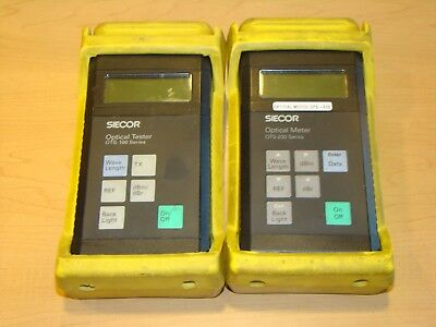 SIECOR OPTICAL TESTER OTS-100 & OPTICAL METER OTS-200. Units Not Tested!