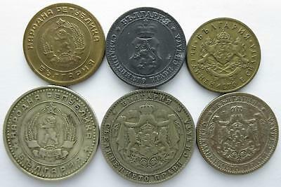 No reserve! Bulgaria older coin lot, Leva and Stotinki coins, 1910's to 1960's