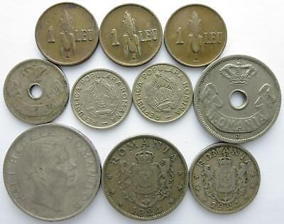 No reserve! Romania older coin lot, Bani and Lei coins, 1900's to 1950's