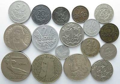No reserve! Poland older coin lot, Groszy, Zloty and Zlotych, 1910's to 1970's