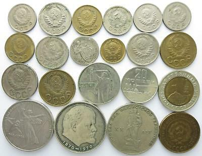 No reserve! Soviet Union older coin lot, Kopeks and Roubles, 1930's to 1970's