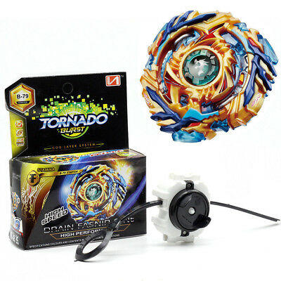 Beyblade BURST B-79 Spin Starter Drain Fafnir.8.Nt With Launcher Set Battle Toy