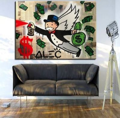 Alec-Monopoly  Hand-Painted Oil Painting art graffiti canvas The Angel 24x36