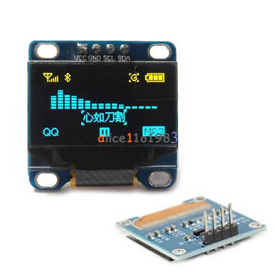 "0.96"" I2C IIC Serial 128*64 OLED LCD Screen LED Display Module for Arduino 51Ser"