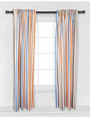 Bacati Mod Sports Stripes One Single Curtain Panel 42 x 84 inches