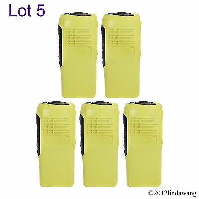Lot 5 Yellow Housing Cover Case Replacement Kit for Motorola GP340 Two Way Radio