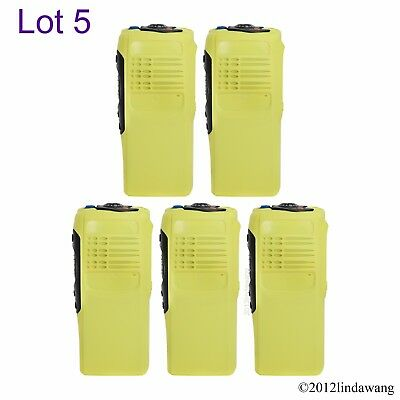 5X Yellow Replacement Housing Cover Front Case for Motorola GP340 Portable Radio