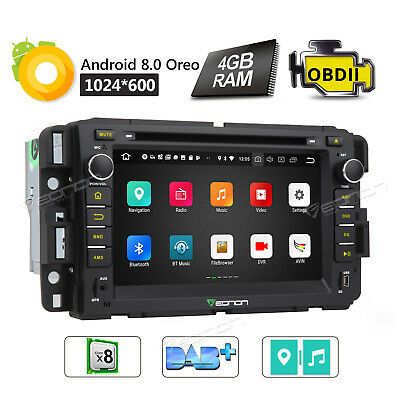 GA9180A Android 8.0 Car Stereo GPS Navi DVD 4G for Chevy Chevrolet GMC Buick I
