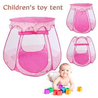 Children Baby Tent Ball Ocean Pit Pool Play House Kid Game Toy Tent Gift Pink