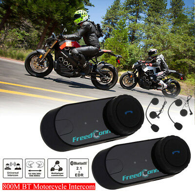 2x 800M BT Motorrad BT Intercom 2 Riders Gegensprechanlage FM GPS Headset