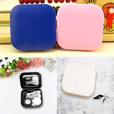 Contact Lens-Portable Mini Plastic Travel Holder Storage Soaking Box Case Set