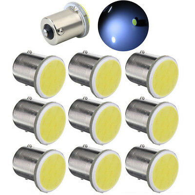 10Pcs P21W BA15S 12V Car Lamp 1156 White Signal Lights SMD LED COB Voltage
