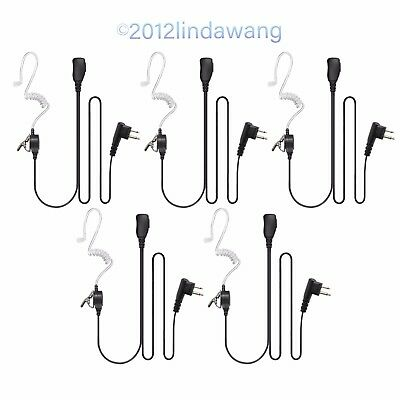 5* Headset Earphone Mic Kit for Motorola GP300 GP308 GP2100 MU12 MV24CVS Radio