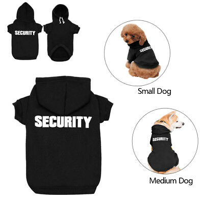 SECURITY Dog Clothes Sweatshirt Coats Hoodie Jacket for Small Medium Large Dogs
