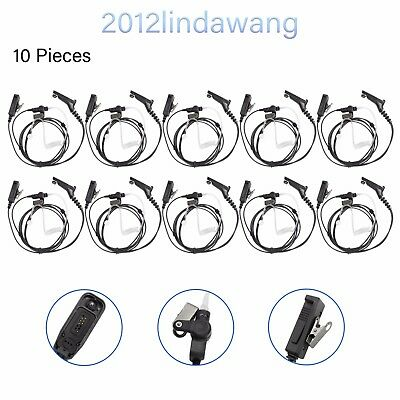 10X 2-Wire Headset Earpiece Mic for Motorola MTX850 MTX950 MTX960 PRO7150 Radio