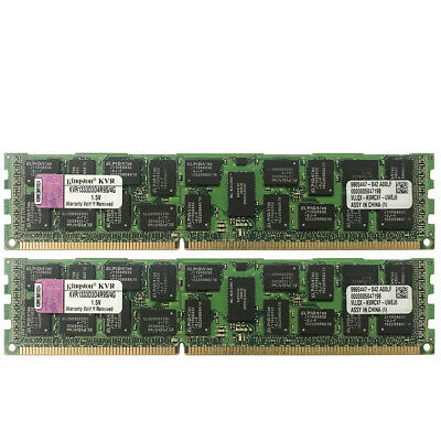 For Kingston 8GB 2X4GB PC3-10600R DDR3-1333 240Pin ECC REG Server Memory Module