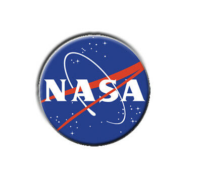 """NASA  1"""" / 25mm / pin button / badge / US / space / UFO / government / sci-fi"""