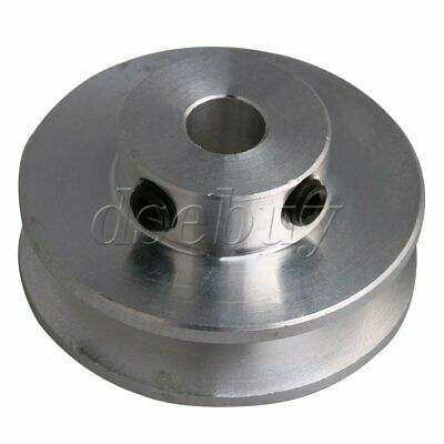 Silver Aluminum Alloy Single Groove 6MM Fixed Bore Step Pulley 31x15x6MM