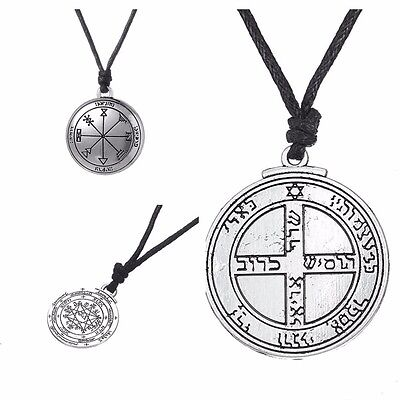 Solomon Seal Pendant Talisman Pentacle of Jupiter kabbalah Wiccan Necklace