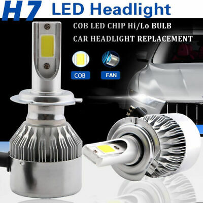 2pc H7 LED Bulbs Dipped Main Beam Replacement White 6000k No Errors