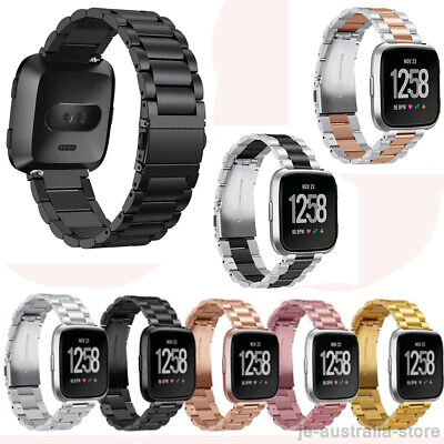 Premium Stainless Steel Metal Watch Band Strap with Regulator For Fitbit Versa