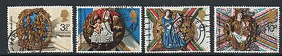 GB 1974 Christmas fine used set stamps