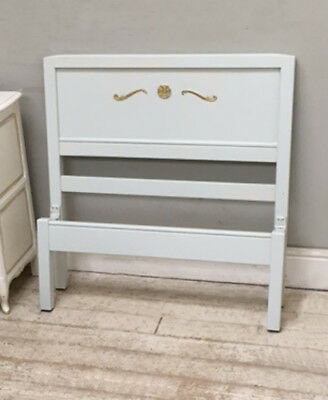 Vintage Painted Single Bed Low Foot End Bed With Original Sprung Base
