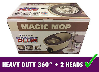 Stainless Steel Spin Mop 360° Microfiber Magic Heavy Duty Mop And Bucket