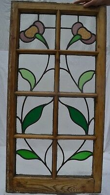 British leaded light stained glass window panel. R762c. WORLDWIDE DELIVERY!!!