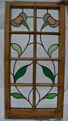 British leaded light stained glass window panel. R762b. WORLDWIDE DELIVERY!!!