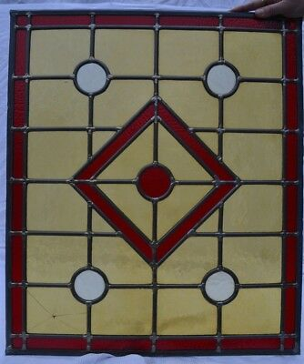British leaded light stained glass window panel. B761e. WORLDWIDE DELIVERY!!!