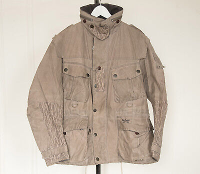 Limited Edition Barbour Dept B waxed Field Jacket - Tan/Stone Size Large
