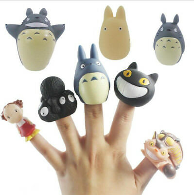 8PCS/LOT Studio Ghibli My Neighbor Totoro Figure Finger Puppets Cute Doll Toy