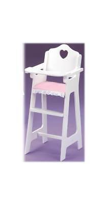 Badger Basket Pink Gingham Doll High Chair In White [ID 8209]