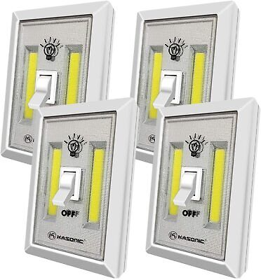 Kasonic Portable 200 Lumen Cordless LED Night Light Switch Set of 4
