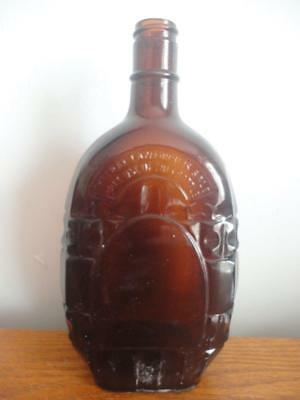 """Collectible Antique Vintage Amber Glass Bottle 9""""x3"""" & 4/5 Quart Made In Usa"""