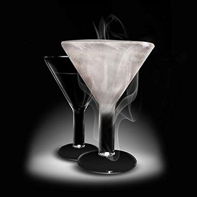 Amsterdam Home Freeze Glass Martini Glass, 7.6-Ounce, Clear