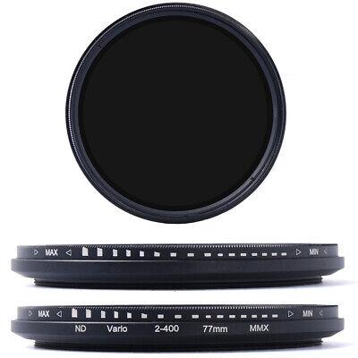 77mm Slim Fader Variable ND Filter Neutral Density ND2 ND8 ND16 to ND400 LF28
