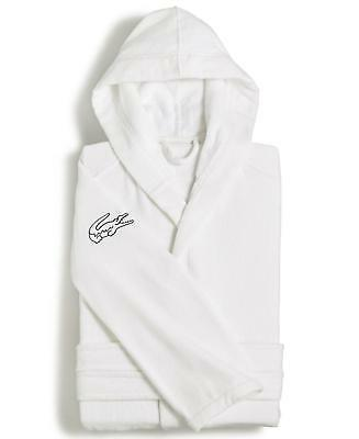 Lacoste Fairplay Cotton Bath Robe White One Size Fits Most $100