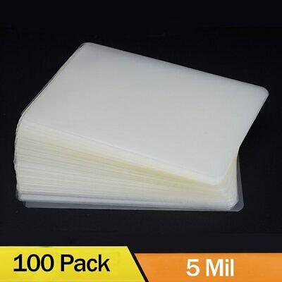 "100 5 Mil Thermal Laminator Laminating Pouches Letter Size Clear 9""x11.5"" Sheets"