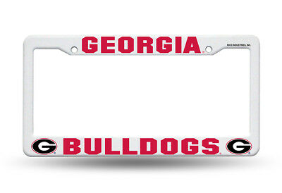 Georgia Bulldogs  Car Truck Tag License Plate Frame University Red & Black