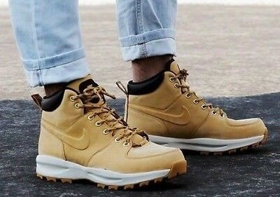 check out dcfb2 bcd23 Nike Manoa Leather 454350-700 Haystack Men s Work Boots Trail Boots NEW!